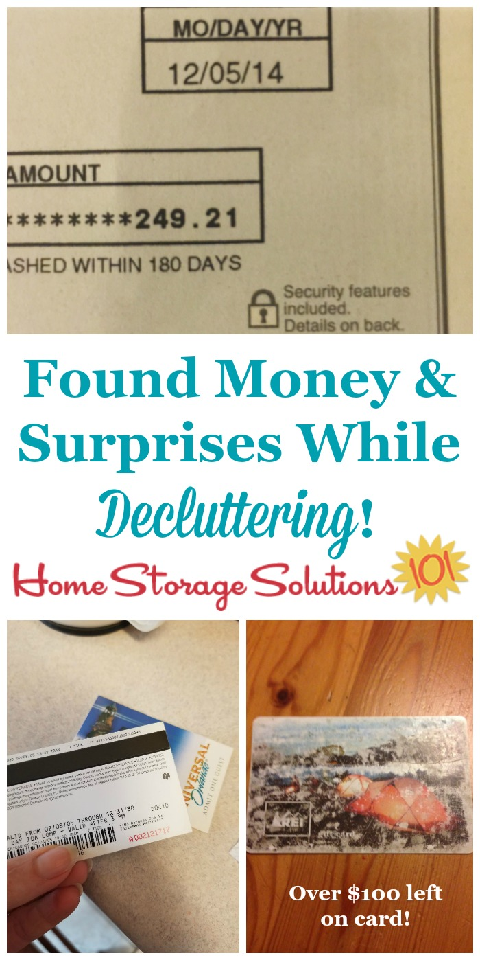 See the things #Declutter365 participants found as they cleared #clutter from their homes, including money and other treasures {on Home Storage Solutions 101} #Decluttering