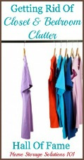 Get Rid of Closet Clutter Hall of Fame