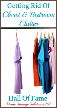 bedroom and closet clutter