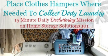 Where to place clothes hampers and baskets in your home