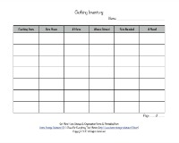 clothing inventory form