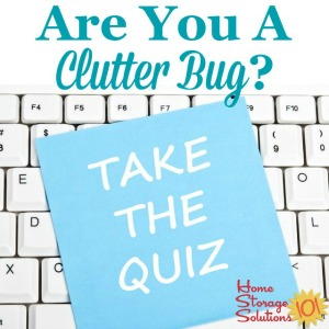 Are you a clutter bug? Take the quiz {on Home Storage Solutions 101}