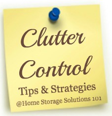 clutter control tips and strategies