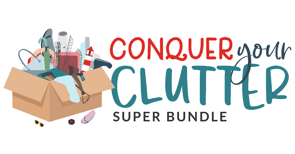The Conquer Your Clutter bundle is a collection of 31 resources that can help you both declutter and organize your home and life. Find out more about the bundle here, and hurry since it's only available for a limited time.