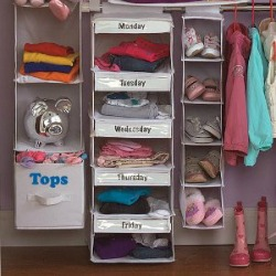 days of the week closet organizer
