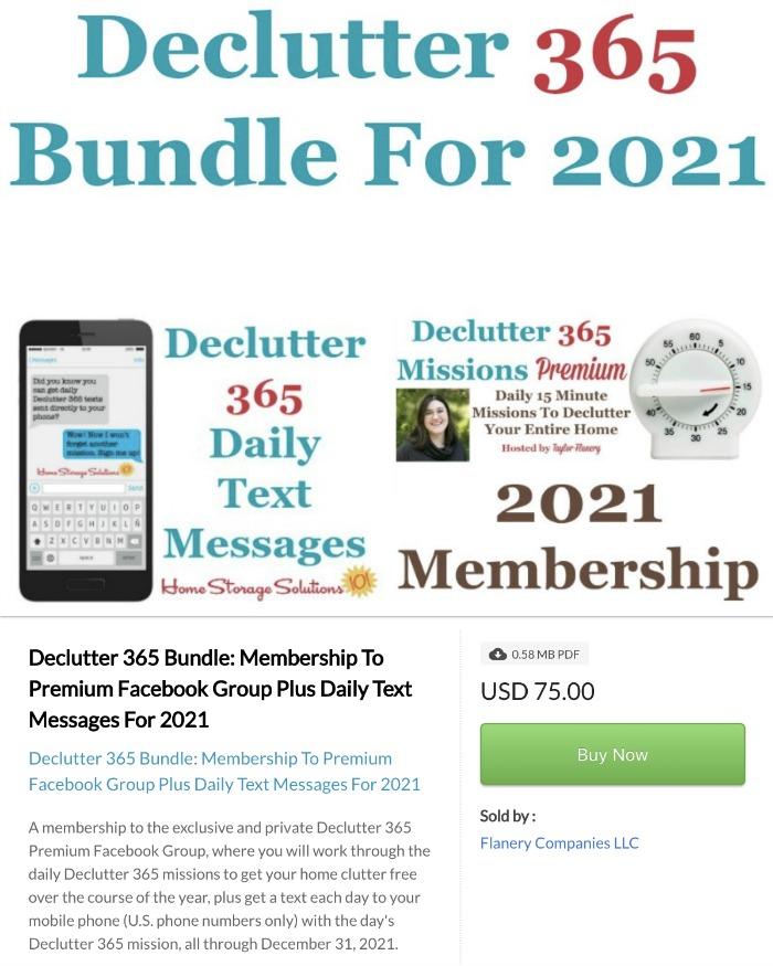 Click here to buy Declutter 365 Bundle