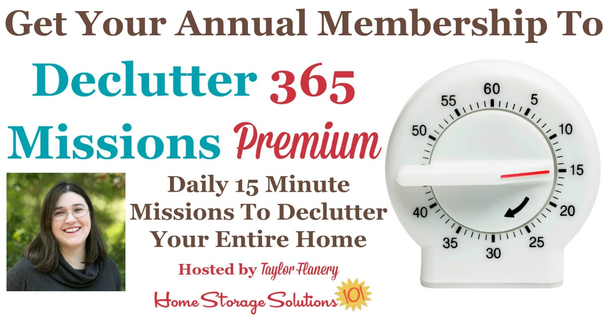 Here's how to get an annual membership to the Declutter 365 Premium Facebook group, to get a year's worth of group coaching, encouragement and accountability to declutter your whole home over the course of the year {on Home Storage Solutions 101}