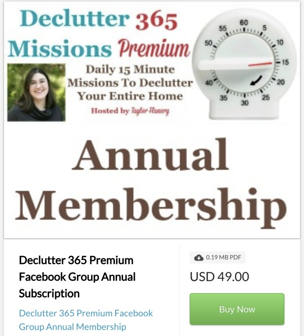 Click here to buy Declutter 365 Premium Annual Membership