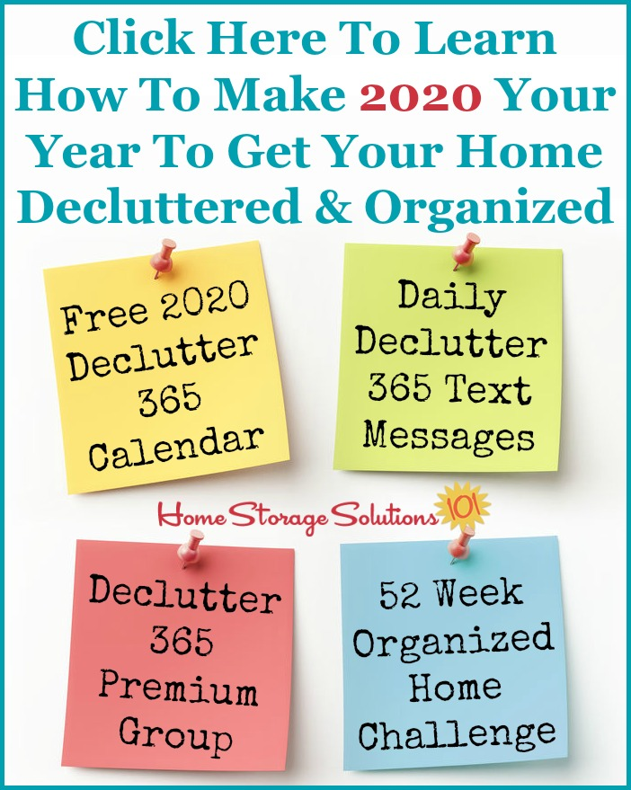 Click here to learn how to make 2020 your year to get your home decluttered and organized