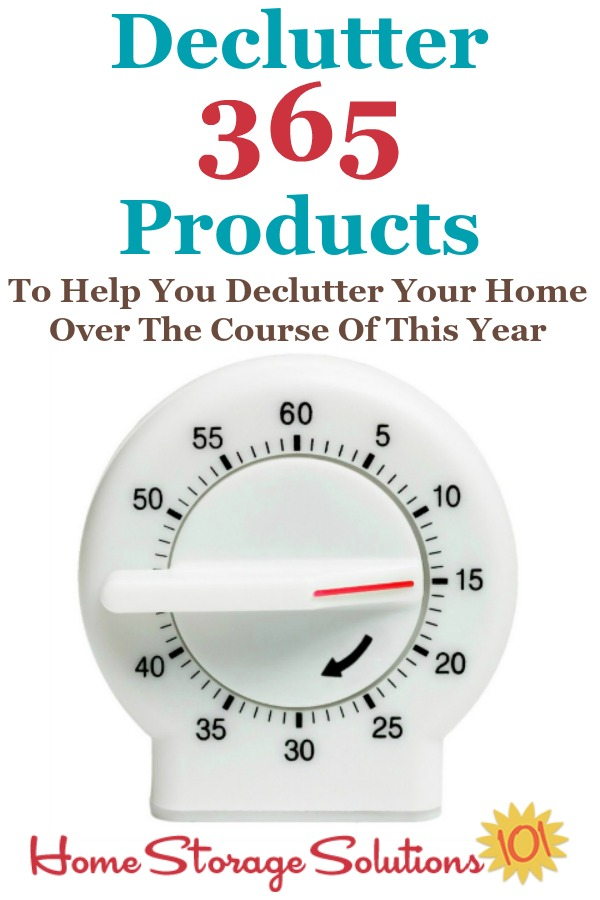 If you want to get your home decluttered, and have it stay that way, use some or all of these Declutter 365 products, including a calendar, text messaging for reminders, and even a Facebook group to help you do it {on Home Storage Solutions 101}