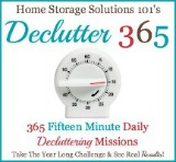 Declutter 365: 365 Fifteen Minite Daily Decluttering Missions