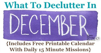 What to declutter in December