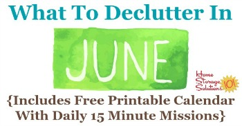 What to declutter in June
