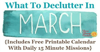 What to declutter in March
