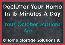 October decluttering missions