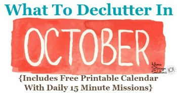 What to declutter in October