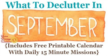 What to declutter in September