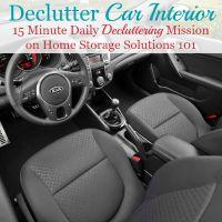 declutter car interior mission