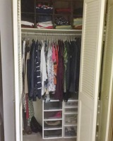 closet shelves and drawers
