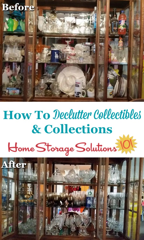 How to declutter collectibles and collections from your home {a #Declutter365 mission on Home Storage Solutions 101}