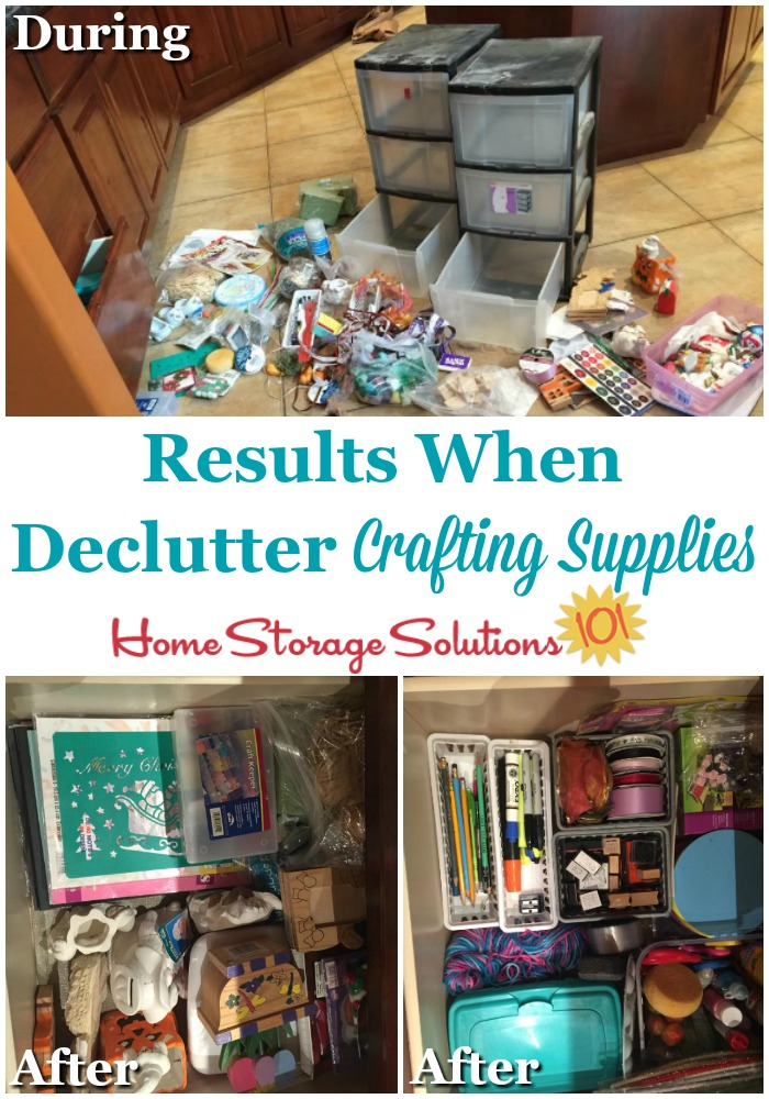 Results when decluttering craft supplies {featured on Home Storage Solutions 101}
