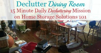 How to declutter your dining room