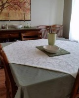 decluttered dining room table