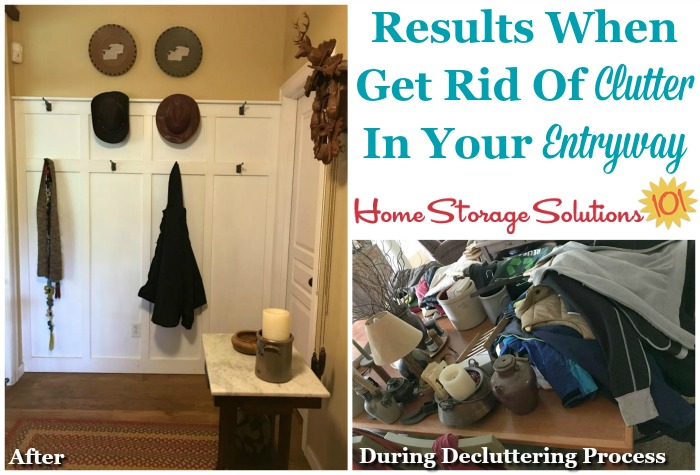 Results when get rid of the clutter in your entryway {featured on Home Storage Solutions 101}