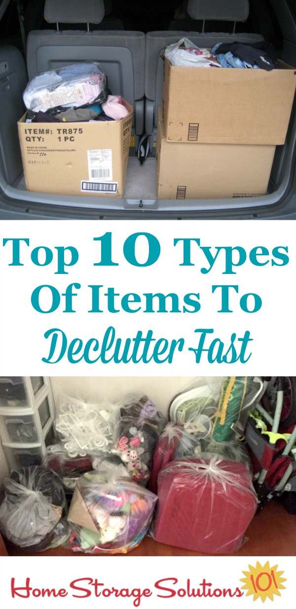 Top 10 types of items to declutter fast {on Home Storage Solutions 101}