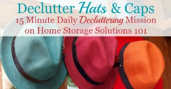 How to declutter hats and caps