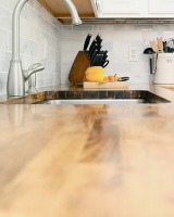 uncluttered kitchen counter
