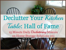 declutter kitchen table: hall of fame