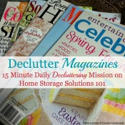 declutter magazines, 15 minute mission