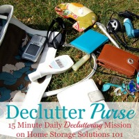 declutter your purse mission