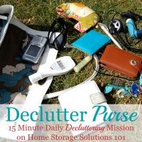declutter your purse mission