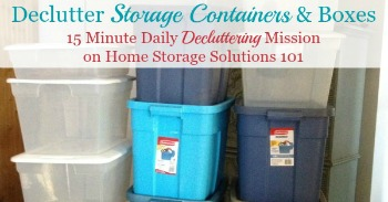 How to declutter storage containers and boxes