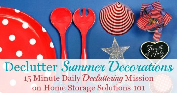 How to declutter summer decorations