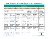 August declutter calendar