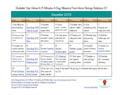 Click Here To Get Your December Printable Calendar