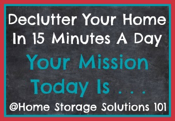 declutter your home in 15 minutes a day: monthly calendars