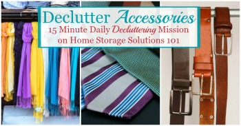 How to declutter accessories