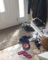 shoes in entryway