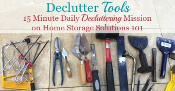 How to declutter tools