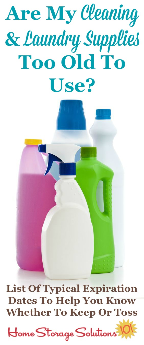 Typical expiration dates for cleaning and laundry products to determine if the ones in your home are still good, or now too old to use {on Home Storage Solutions 101}
