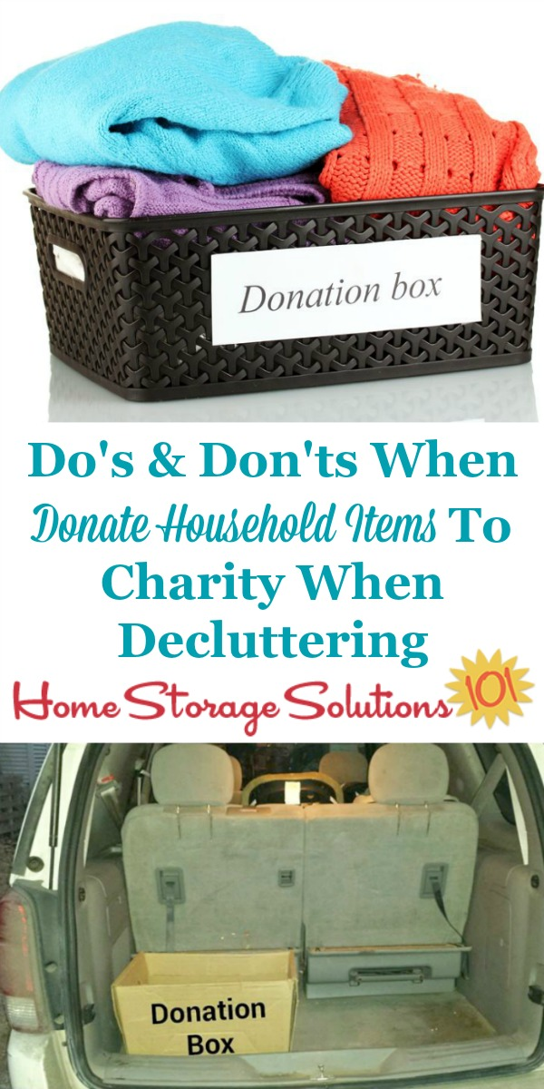 donate household items to charity do 39 s don 39 ts plus ideas of where to give. Black Bedroom Furniture Sets. Home Design Ideas