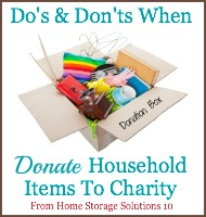 do's and don'ts for donating household items to charity