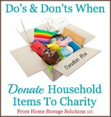 Donate Household Items To Charity