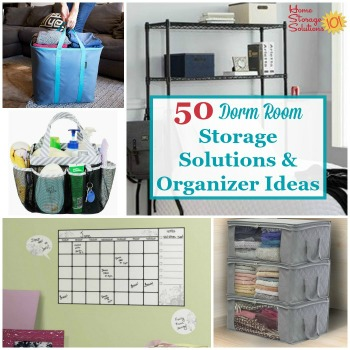 dorm room storage solutions and organizers