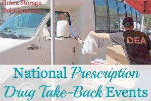 National Prescription Drug Take-Back Events