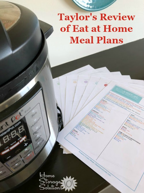 Taylor's review of Eat at Home meal plans {on Home Storage Solutions 101} #MealPlan #MenuPlan #MealPlanning